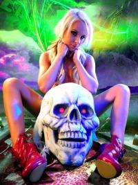 Horny Blond Denise Skull Island