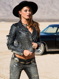 Chelsie Aryn Playboy Miss March 2015 Sexy Black leather Pictures