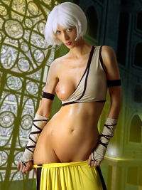 Cosplay Girl Lana Oiled Body Pics