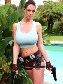 Gorgeous Busty Sexbomb Lana Kendrick as Sexy Lara Croft