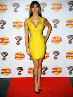 British Actress - Sexy Jessica Jane Clement Tight Yellow Dress