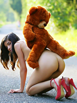 Sweet Teen Nika Loves her Teddy Bear