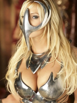 Famous Busty Blonde Pornstar Shyla Stylez as Queen of Artar