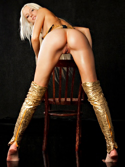 Blonde Angel Alysha A Shiny Gold