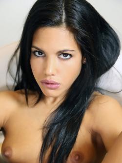 Damn Hot Babe with Beautiful Black Hair Apolonia Perky Titties