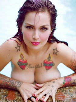 Colorful Tramp Stamps on This Big Boobed Bombshell Fernanda