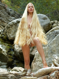Long-Long Haired Blonde Desire A