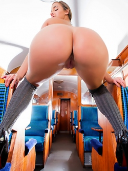 Sexy Schoolgirl Amirah Adara Fucked Hard During a Train Trip