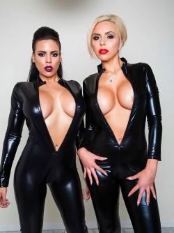 Latex Lesbians with Big Fake Boobs - Luna Star and Nina Elle