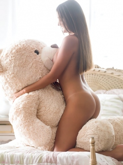 Brazilian Sexy Young Girl Catarina Migliorini is Riding her Teddy Bear