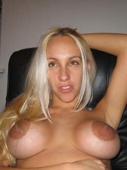 Amateur Blonde with Round Boobies