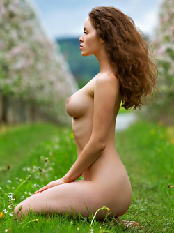 Sexy Brunette Vika A Apple Blossom