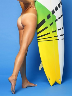 Natural Girl Patti Malibu Surfing