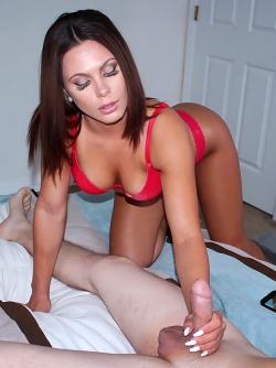 Goddamn Dirty Amateur Mia Pearl Sucks a Hard Cock in Red Bra