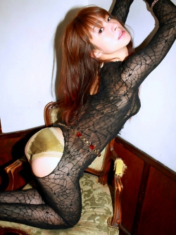 Hot Japanese Girl Rika Kawamura Teasing us in her Sexy Catsuit