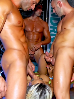 Wild Hardcore Orgy in Disco Club