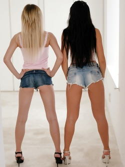 Naughty Young Babes in Mini Jeans