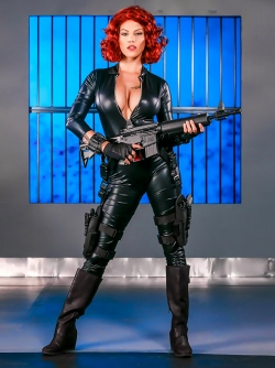 Peta Jensen as Black Widow from Captain America: A XXX Parody