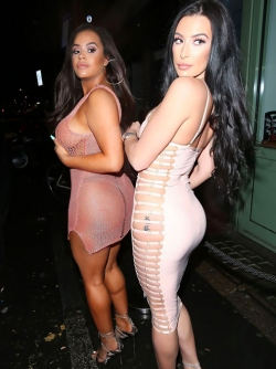 Lateysha Grace in a See through Dress at the Launch of Sixty6 Mag