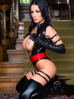 Big Titted Pornstar Patty Michova Wearing Black Latex Outfit