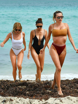 Caroline Vreeland and her Sexy Friends at the Beach in Miami
