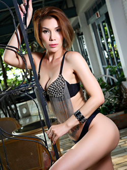 Tattooed Thai Model Janya Stripping