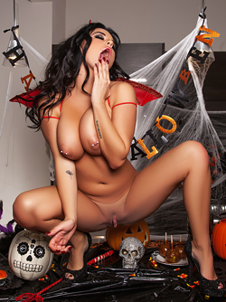 Slutty Playboy Devil Brittney Shumaker and her Fine Pierced Boobs