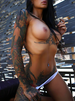 Tight and Nasty Tattooed Bitch Lee Q Loves Teasing You Topless