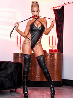 Big Boobed Blonde Pornstar Bridgette B , A Real Domina in Latex
