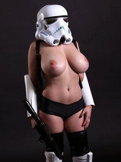 Redhead Goddess with Huge Boobs Tessa Fowler - Sexy Stormtrooper